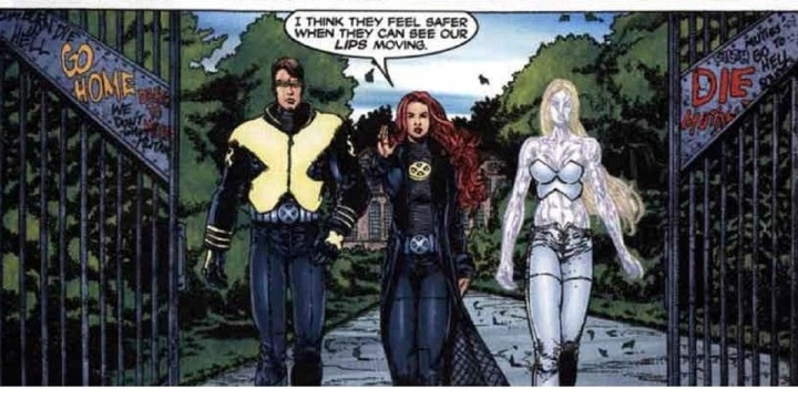 Cyclops Jean grey Emma Frost Sex in the Bushes in New X-Men 118